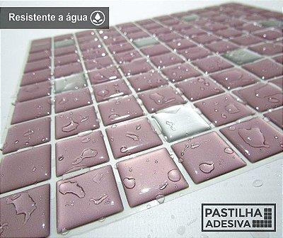Placa Pastilha Adesiva Resinada 30x27 cm - AT179 - Rosa