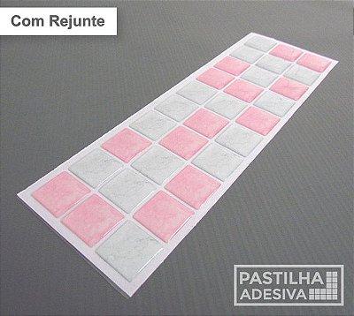 Faixa Pastilha Adesiva Resinada 27x8 cm - AT182 - Rosa