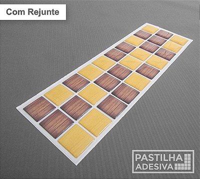 Faixa Pastilha Adesiva Resinada 27x8 cm - AT185 - Amarelo Marrom