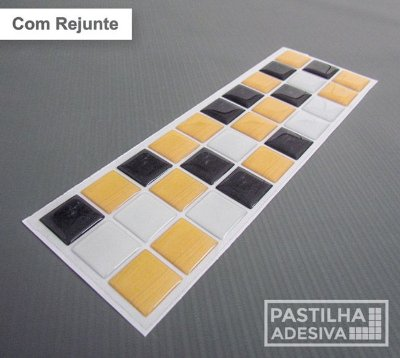 Faixa Pastilha Adesiva Resinada 27x8 cm - AT187 - Amarelo