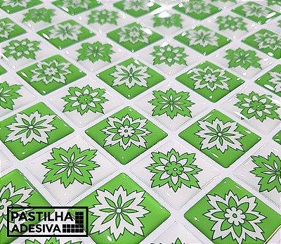 Placa Pastilha Adesiva Resinada 30x27 cm - AT209 - Verde