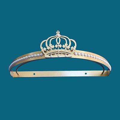 Dossel De Parede Coroa E Perola - Dourado