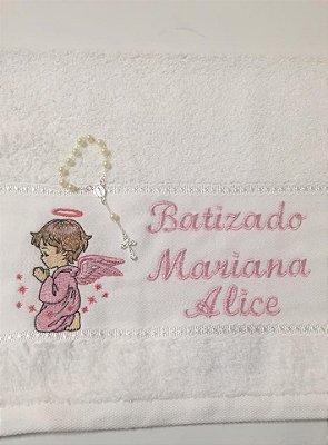 Toalha Bordada Batismo