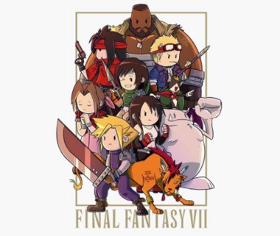 Enjoystick Final Fantasy VII Chibi Composition