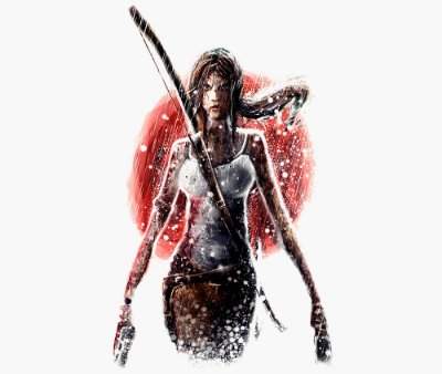 Enjoystick Tomb Raider - Lara Croft in Rain