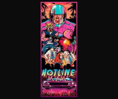 Enjoystick Hotline Miami Vertical Composition