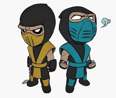 Enjoystick Mortal Kombat Scorpion and Subzero Chibi
