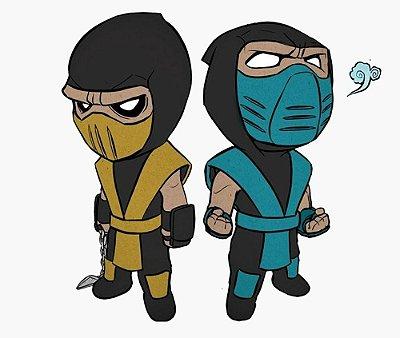 Enjoystick Mortal Kombat Scorpion and Subzero Chibi