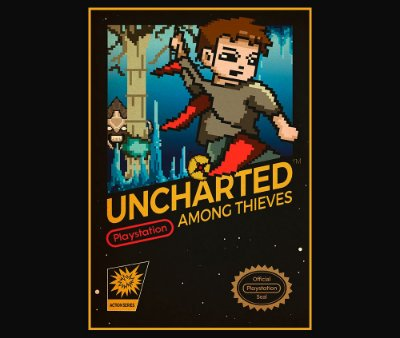 Enjoystick Uncharted Nes 8 Bits