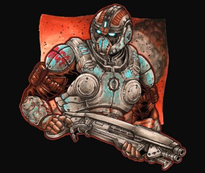 Enjoystick Gears of War - Carmine