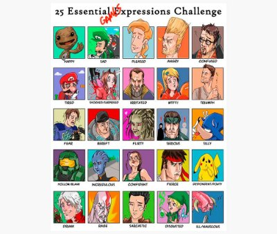 Enjoystick Videogame Characters Expression