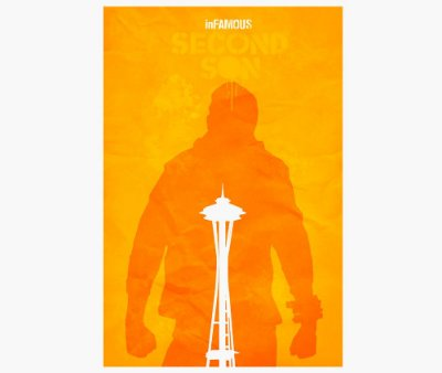 Enjoystick Infamous Second Son Orange Vertical Composition
