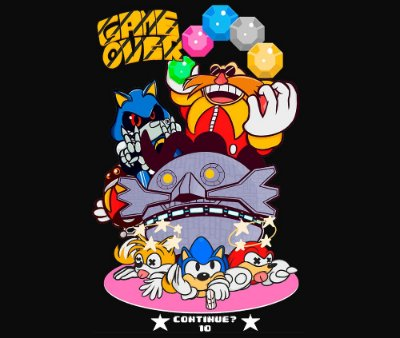 Enjoystick Sonic - Game Over