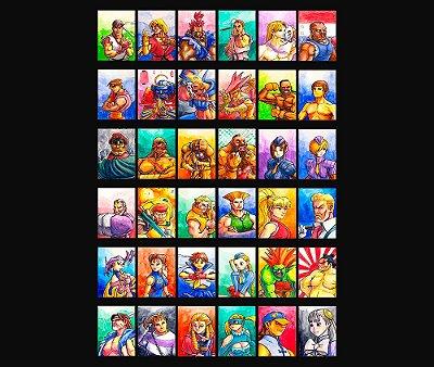 Enjoystick Street Fighter Alpha 3 Max - Characters