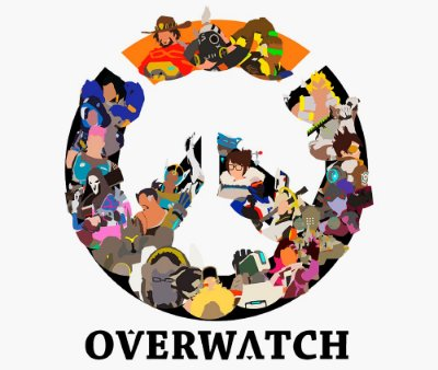 Enjoystick Overwatch - Heroes Minimalista Logo
