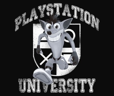 Enjoystick Playstation University Feat Crash - White