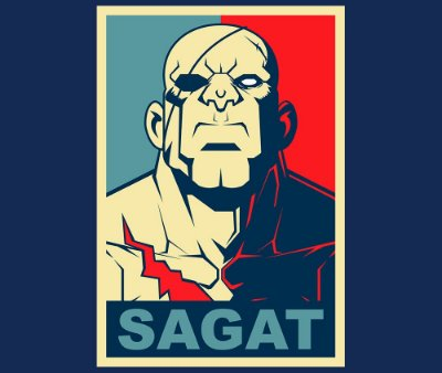 Enjoystick Street Fighter - Sagat Style