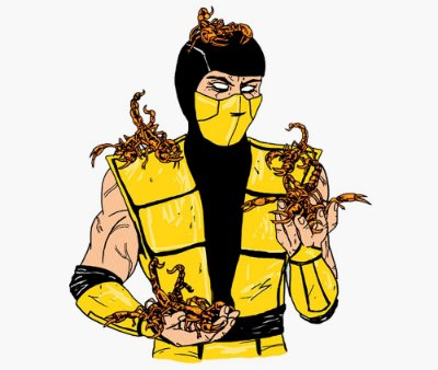 Enjoystick Mortal Kombat - Cute Scorpion