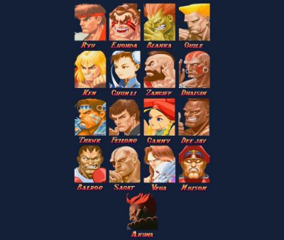 Enjoystick Super Street Fighter II - Select your character