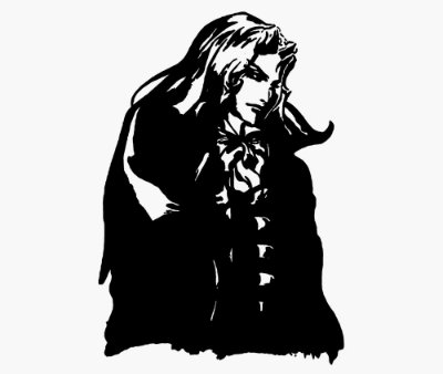 Enjoystick Castlevania - Alucard Black & White