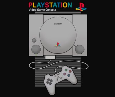 Enjoystick Playstation 1 Minimalist