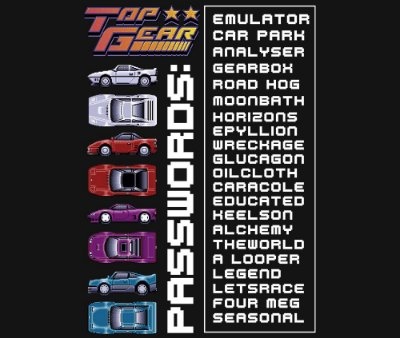 Enjoystick Top Gear - Passwords