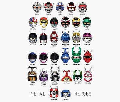 Enjoystick Metal Heroes Helmets