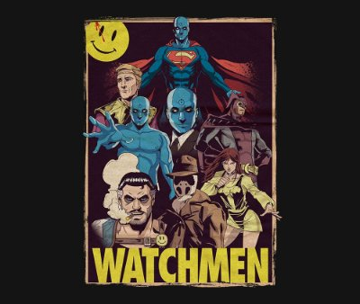 Enjoystick Watchmen Poster Composition
