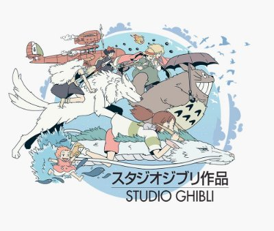 Enjoystick Studio Ghibli Art Composition
