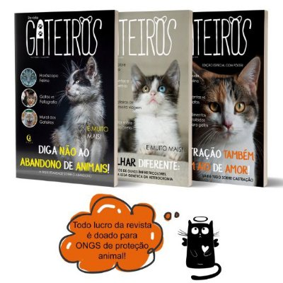 Kit com 4 Revista Gateiros