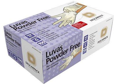 Luva de Látex Powder Free - Caixa c/ 100 Unidades DESCARPACK
