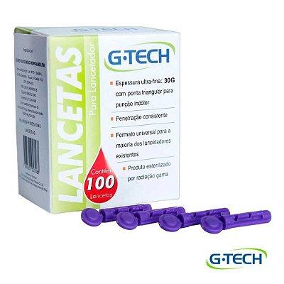 LANCETA PARA LANCETADOR G-TECH 30G CX COM 100 UND
