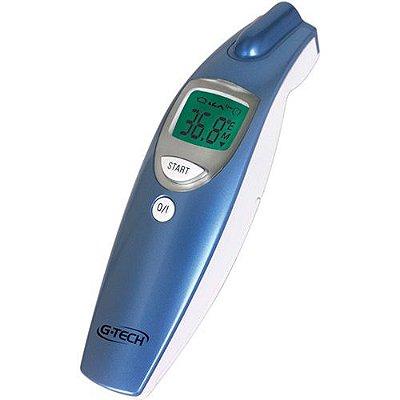 Termômetro Clínico G-Tech Digital de Testa Sem Contato - Medição da Temperatura Corpórea, Ambientes e Superfícies