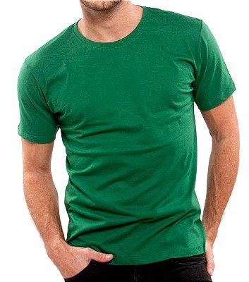 Camiseta 100% Algodão Penteado Verde Bandeira