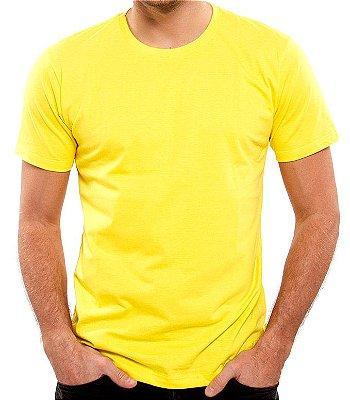 Camiseta 100% Algodão Penteado Amarelo Canário