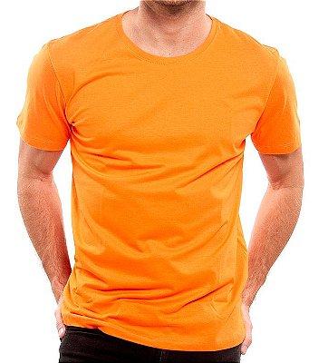 Camiseta 100% Algodão Penteado Laranja