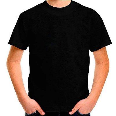 Camiseta Infantil 100% Algodão Penteado Preto