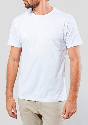 Camiseta Estonada 100% Algodão Penteado Branco
