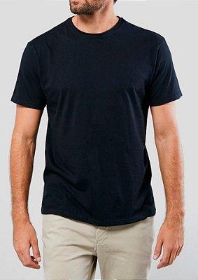 Camiseta Estonada 100% Algodão Penteado Preto