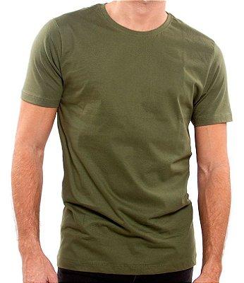 Camiseta 100% Algodão Penteado Verde Cactus