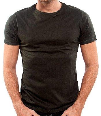 Camiseta 100% Algodão Penteado Verde Jardim