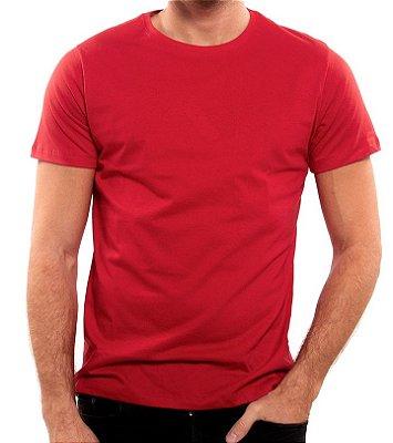 Camiseta 100% Algodão Penteado Bordo