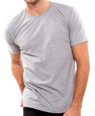 Camiseta 80% Algodão Penteado 20% Poliester Mescla