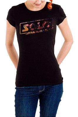 Camiseta Feminina Preta Solo Star Wars