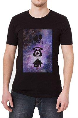 Camiseta Masculina Preta E.T. Phone Home