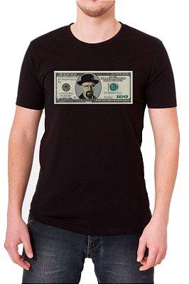 Camiseta Masculina Preta Dolar Heisenberg Breaking Bad