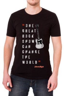 Camiseta Masculina Preta School Of Rock
