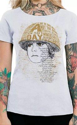 Camiseta Feminina Branca Boy U2
