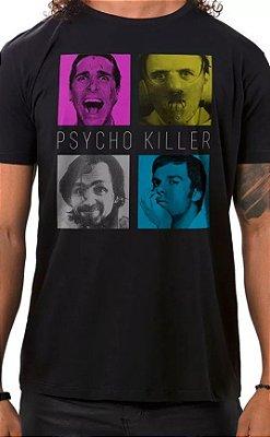 Camiseta Masculina Preta Psycho Killer