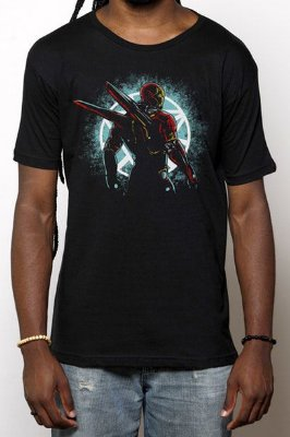 Camiseta Masculina Preta Bleeding Egde Armor